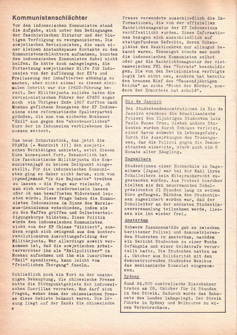 Roter Morgen, 2. Jg., Okt./Nov. 1968, Seite 8