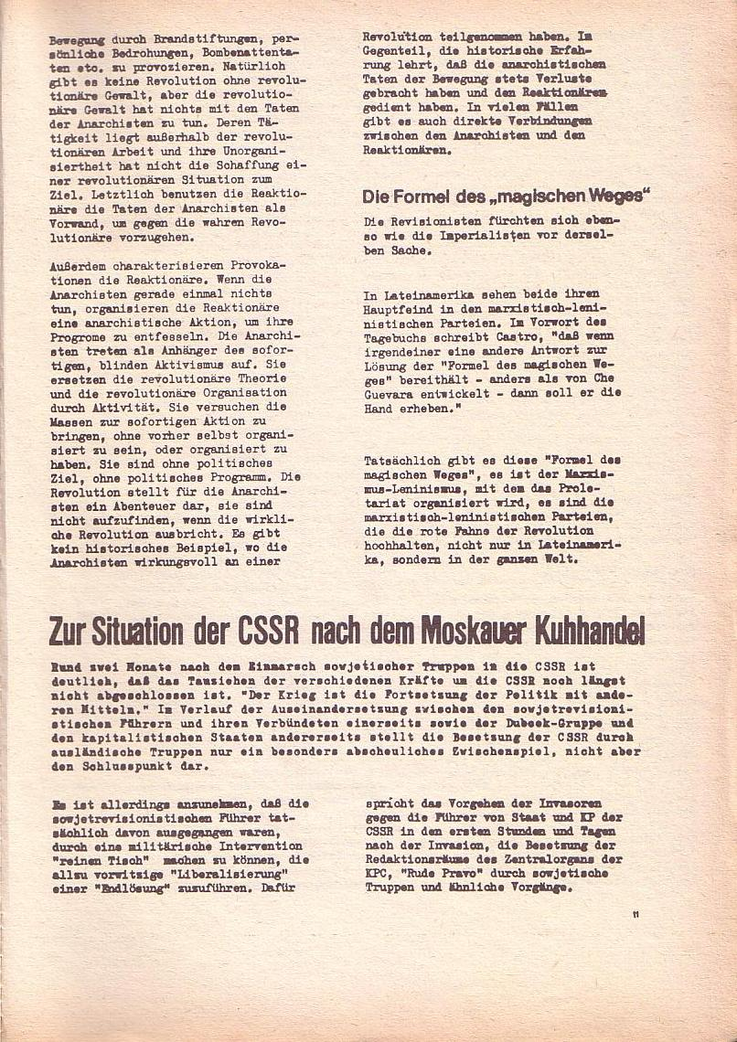 Roter Morgen, 2. Jg., Okt./Nov. 1968, Seite 11