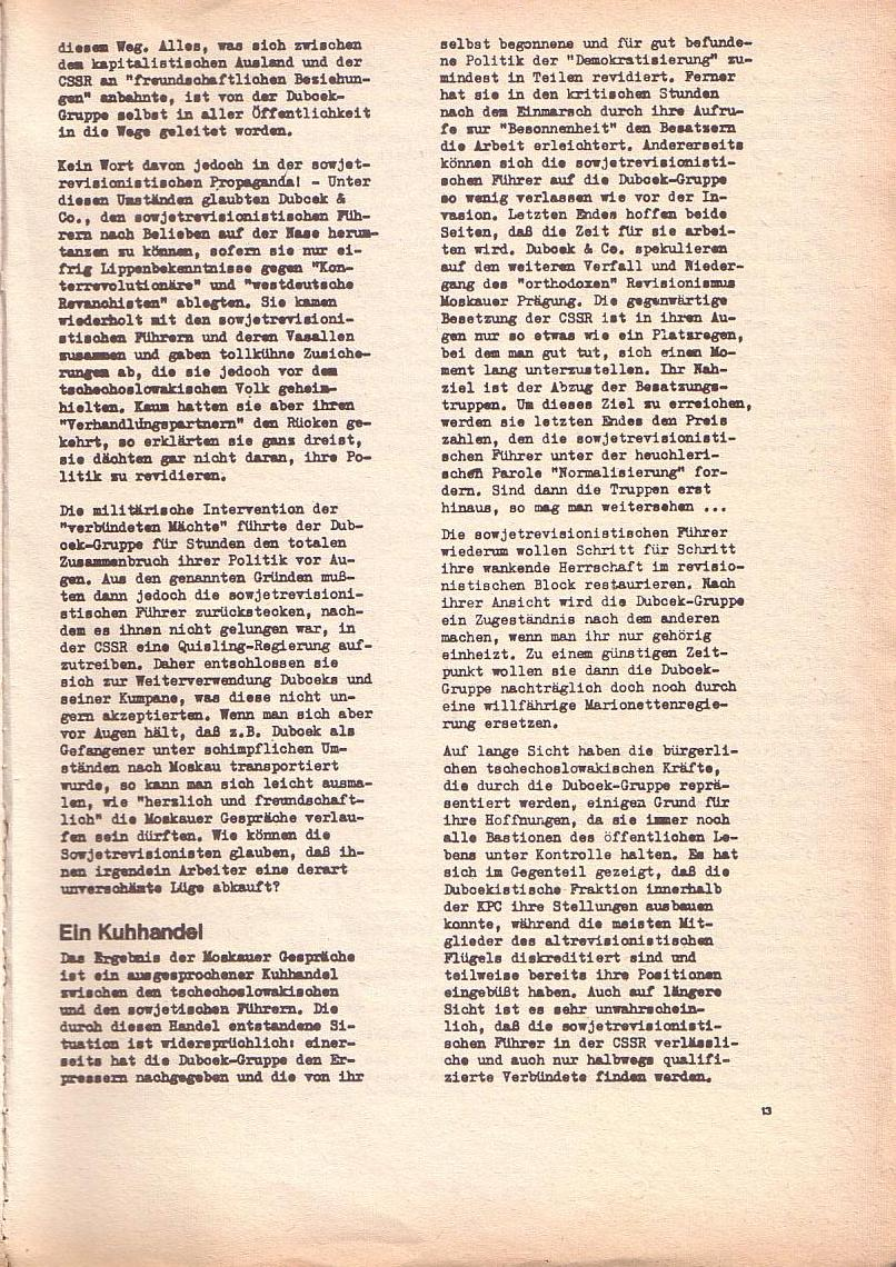 Roter Morgen, 2. Jg., Okt./Nov. 1968, Seite 13