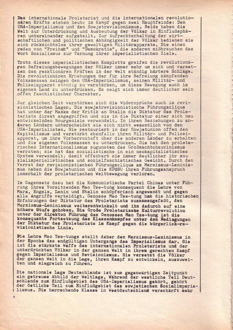 Roter Morgen, 3. Jg., Dez. 68/Jan. 69, Seite 2
