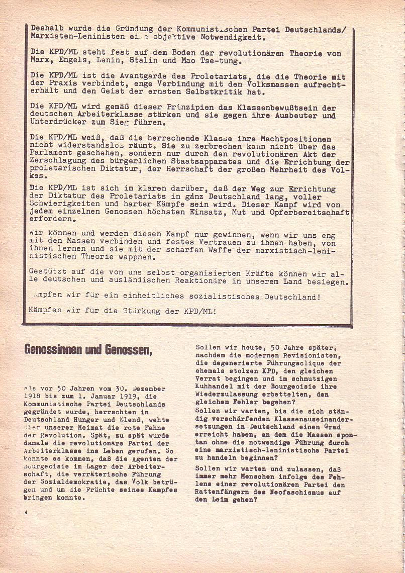 Roter Morgen, 3. Jg., Dez. 68/Jan. 69, Seite 4