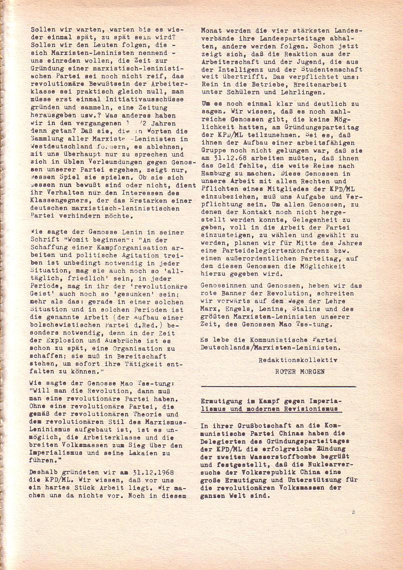Roter Morgen, 3. Jg., Dez. 68/Jan. 69, Seite 5