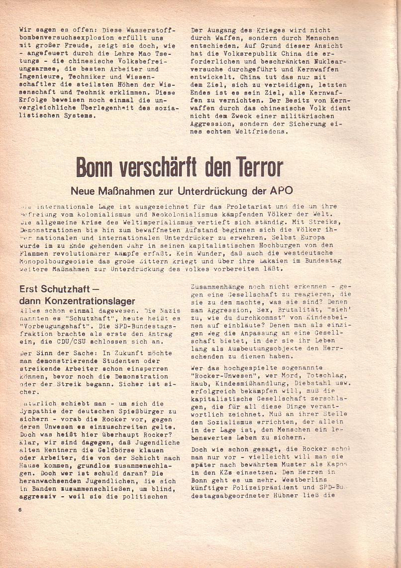 Roter Morgen, 3. Jg., Dez. 68/Jan. 69, Seite 6