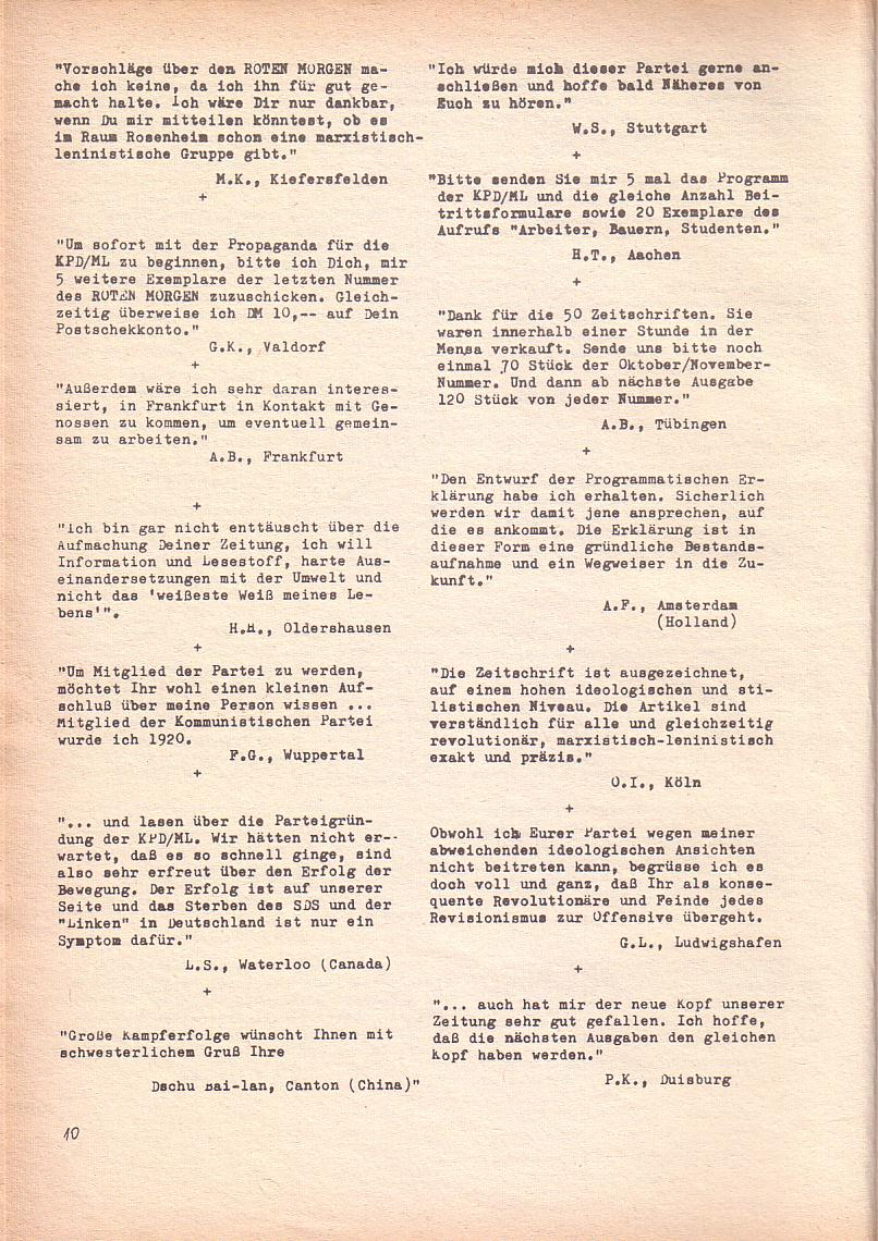 Roter Morgen, 3. Jg., Dez. 68/Jan. 69, Seite 10