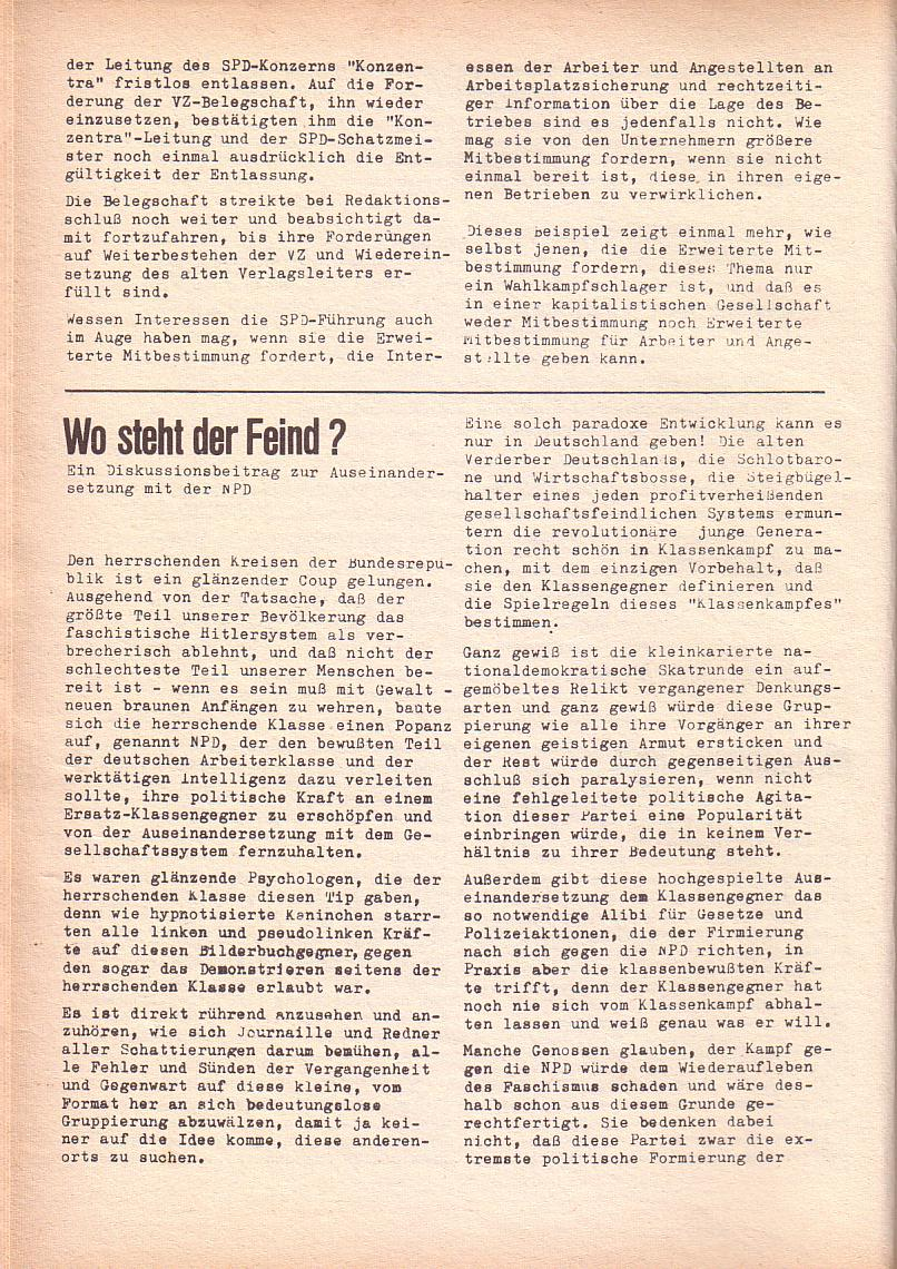 Roter Morgen, 3. Jg., Dez. 68/Jan. 69, Seite 14