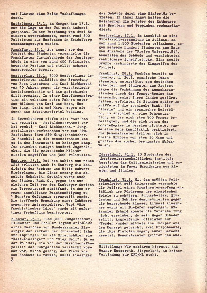 Roter Morgen, 3. Jg., Feb. 1969, Seite 2
