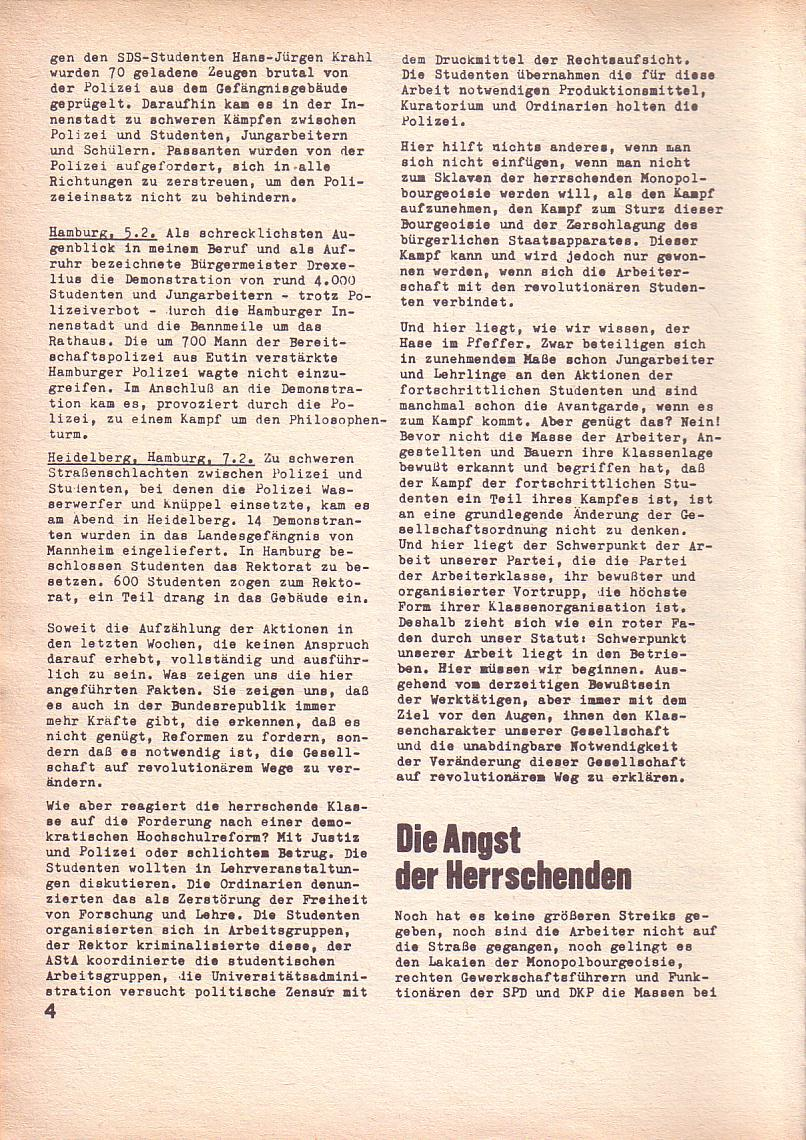 Roter Morgen, 3. Jg., Feb. 1969, Seite 4