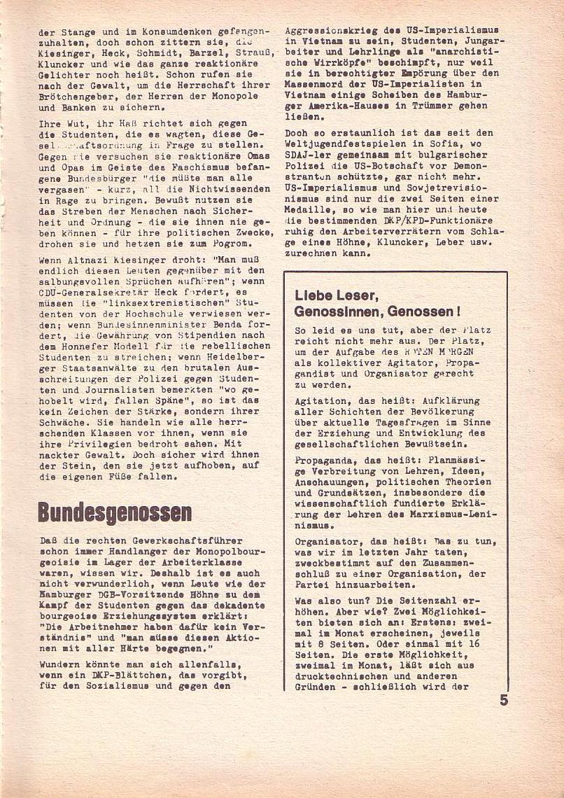 Roter Morgen, 3. Jg., Feb. 1969, Seite 5