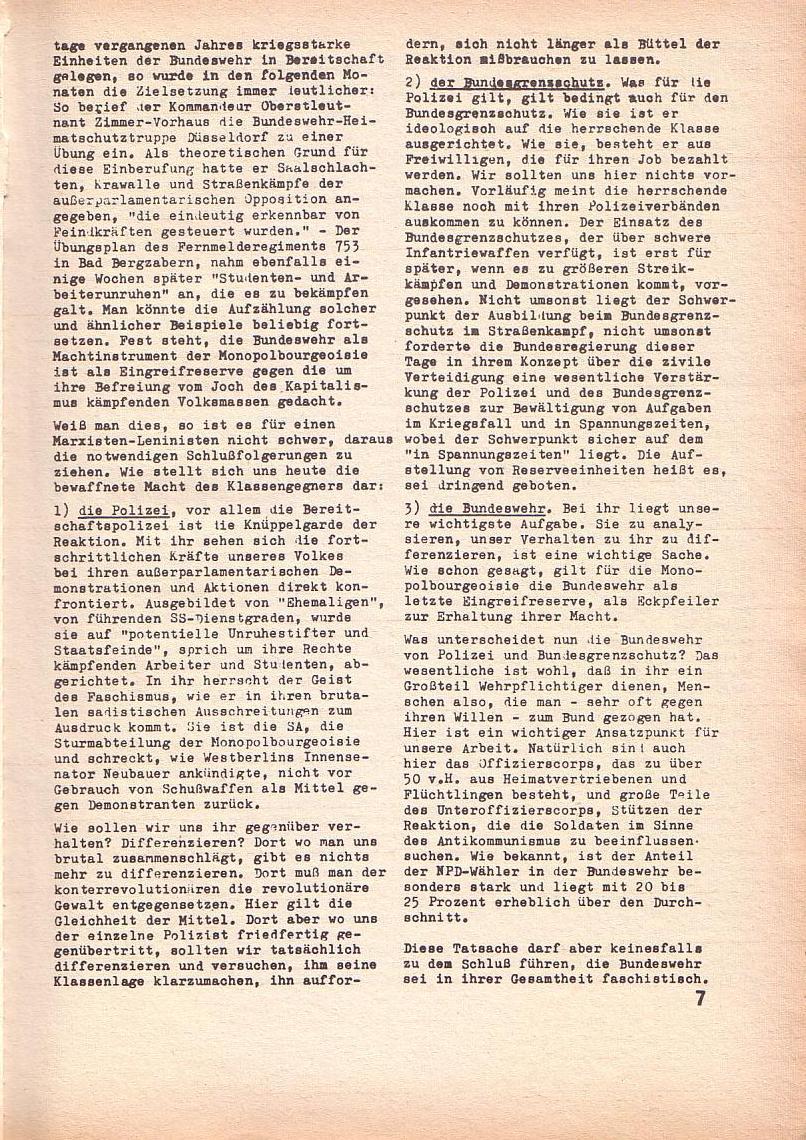 Roter Morgen, 3. Jg., Feb. 1969, Seite 7