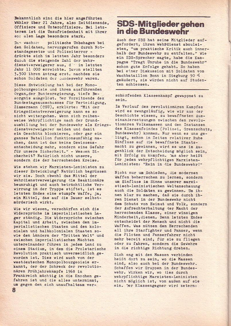Roter Morgen, 3. Jg., Feb. 1969, Seite 8