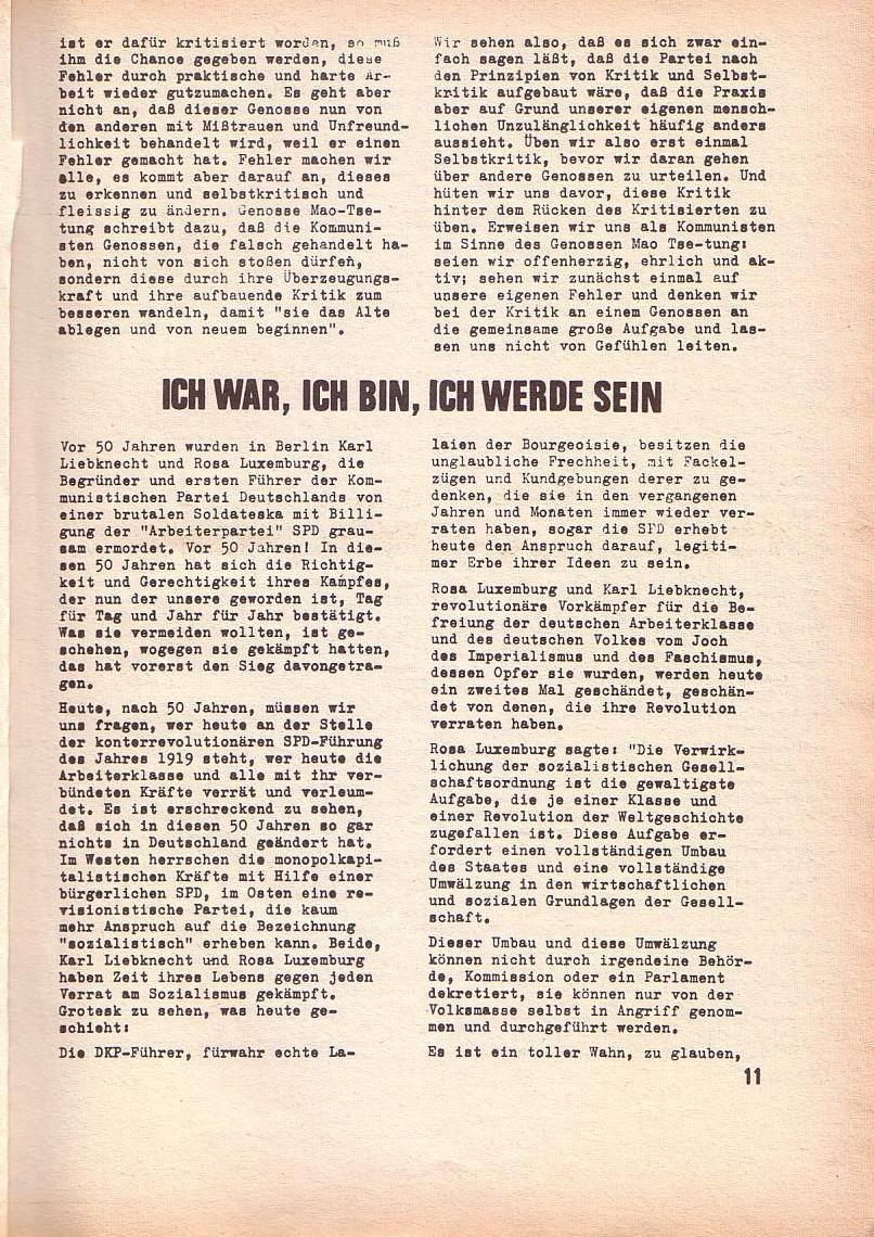 Roter Morgen, 3. Jg., Feb. 1969, Seite 11