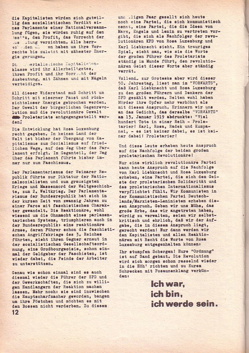 Roter Morgen, 3. Jg., Feb. 1969, Seite 12