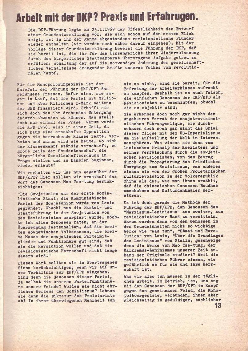 Roter Morgen, 3. Jg., Feb. 1969, Seite 13
