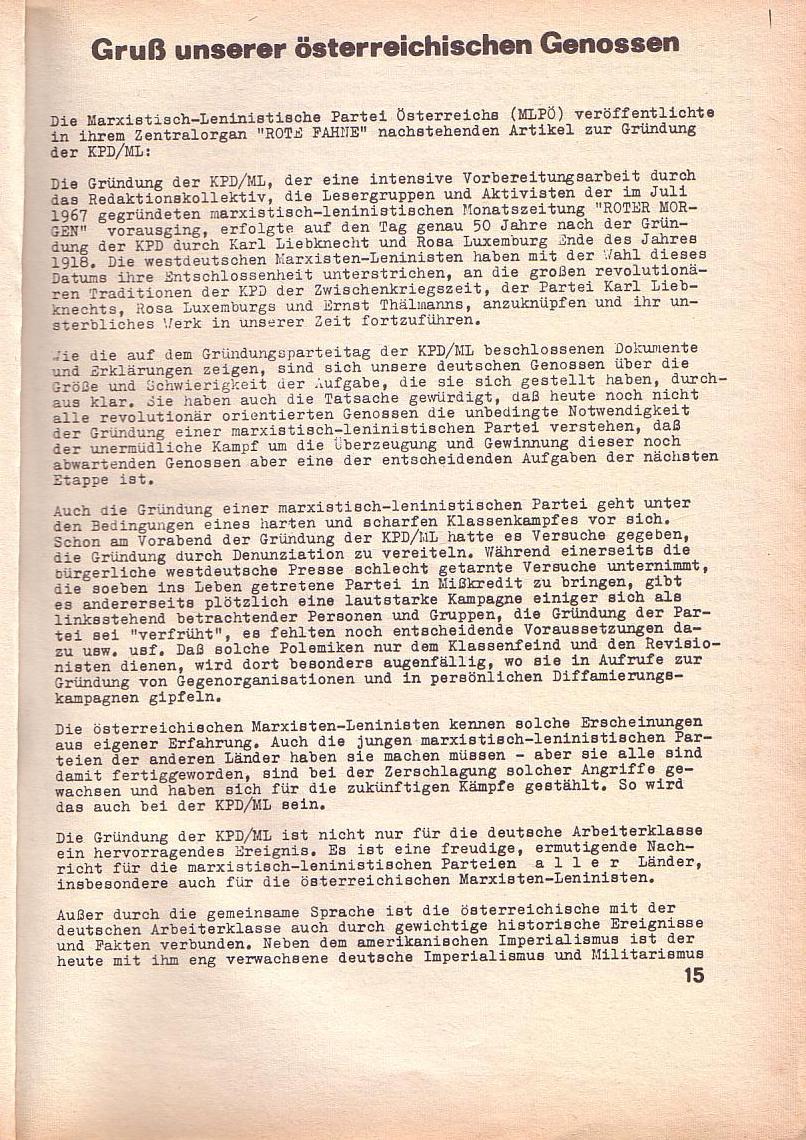 Roter Morgen, 3. Jg., Feb. 1969, Seite 15