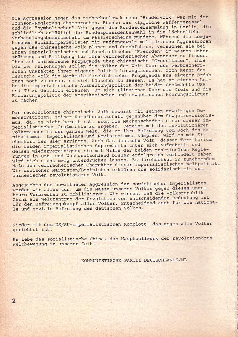 Roter Morgen, 3. Jg., März 1969, Seite 2