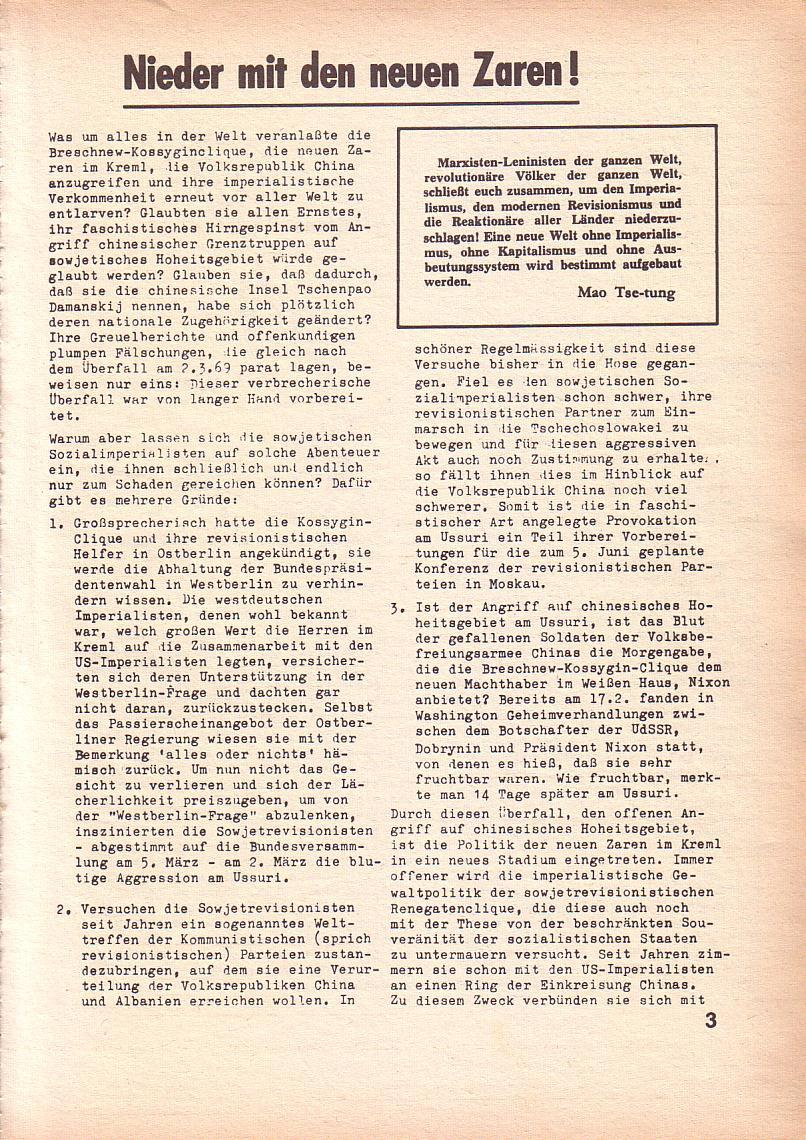 Roter Morgen, 3. Jg., März 1969, Seite 3