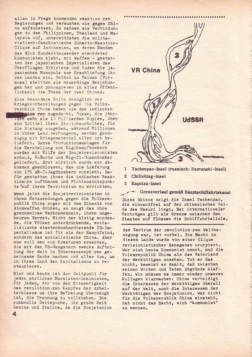 Roter Morgen, 3. Jg., März 1969, Seite 4
