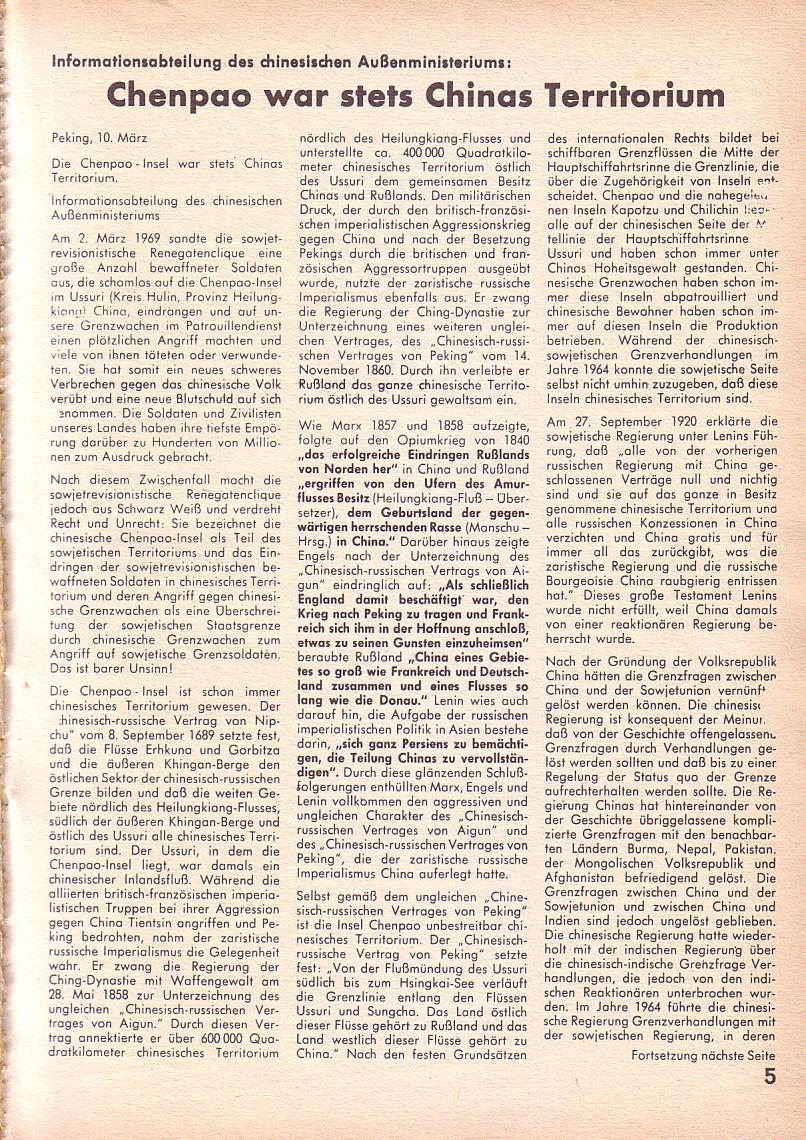 Roter Morgen, 3. Jg., März 1969, Seite 5