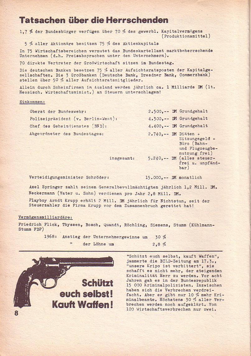 Roter Morgen, 3. Jg., März 1969, Seite 8