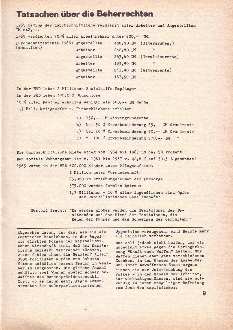 Roter Morgen, 3. Jg., März 1969, Seite 9