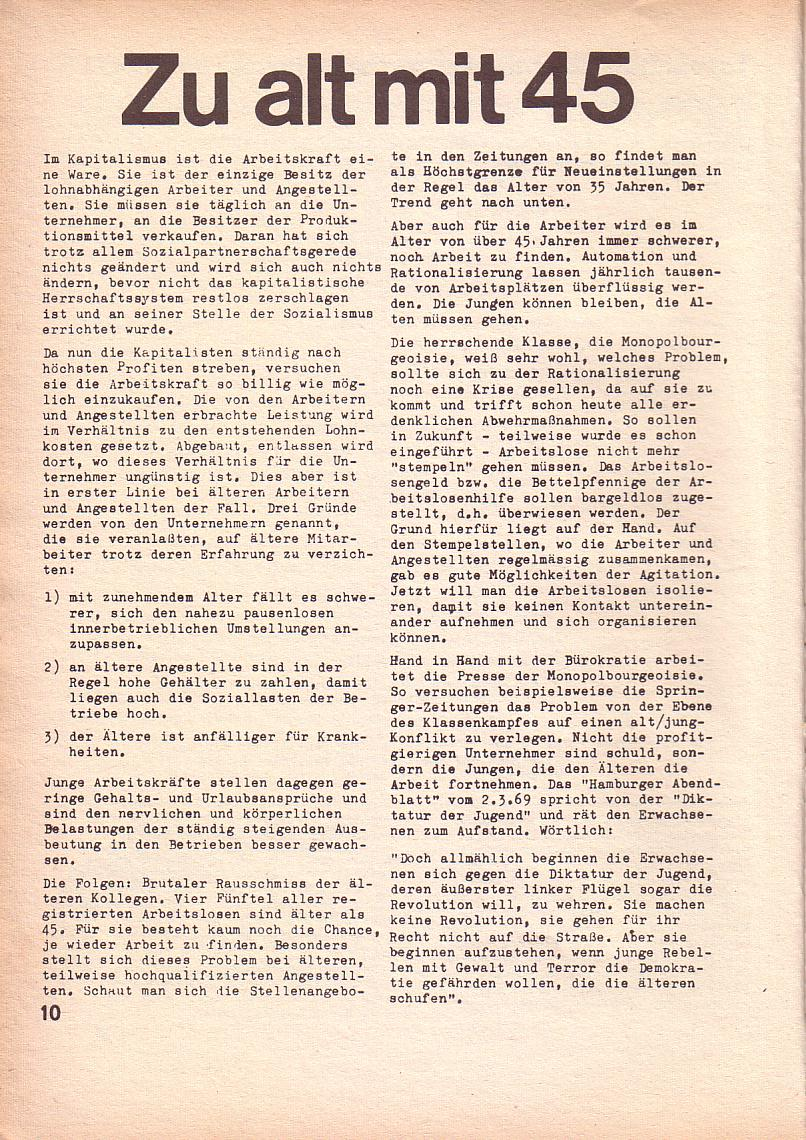 Roter Morgen, 3. Jg., März 1969, Seite 10