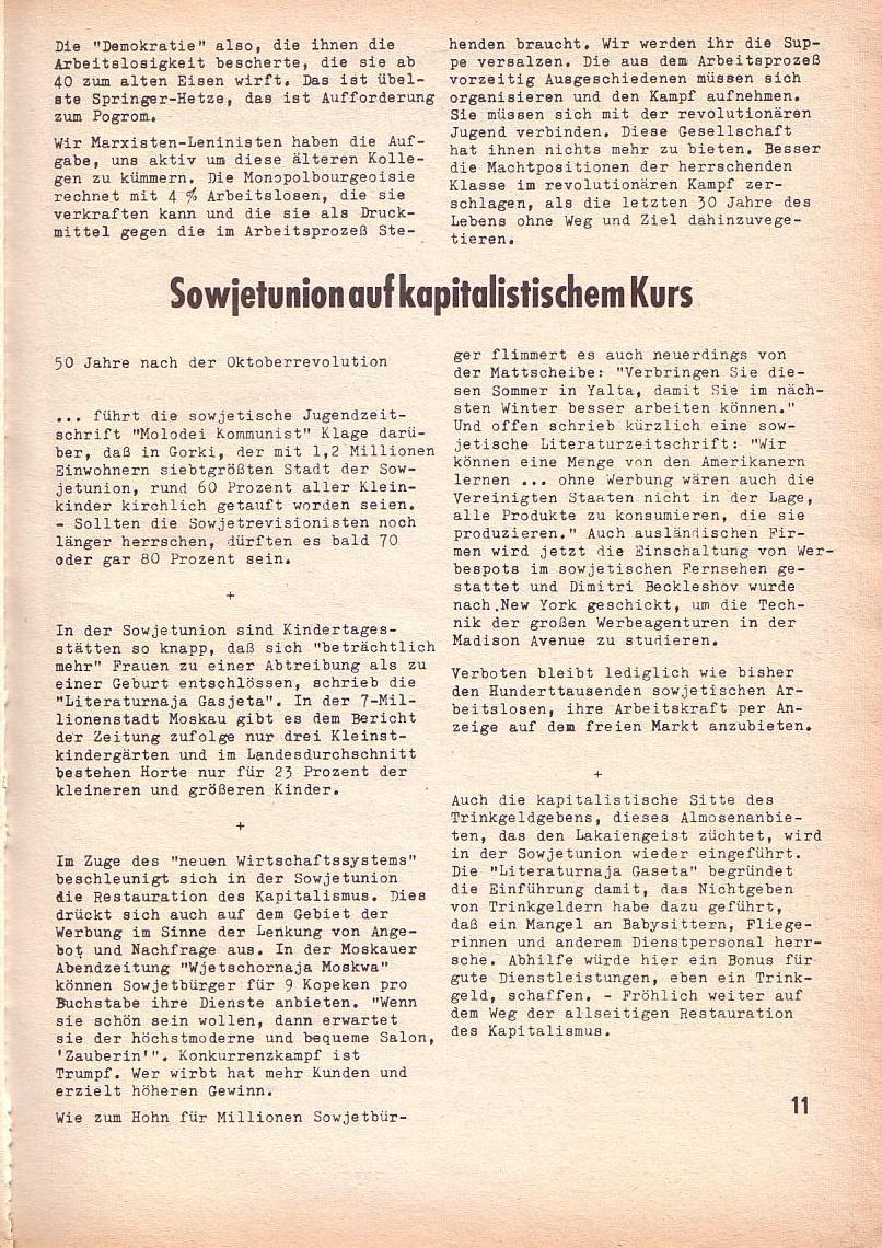 Roter Morgen, 3. Jg., März 1969, Seite 11