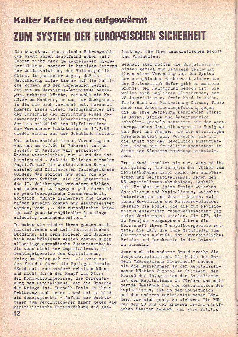 Roter Morgen, 3. Jg., März 1969, Seite 12