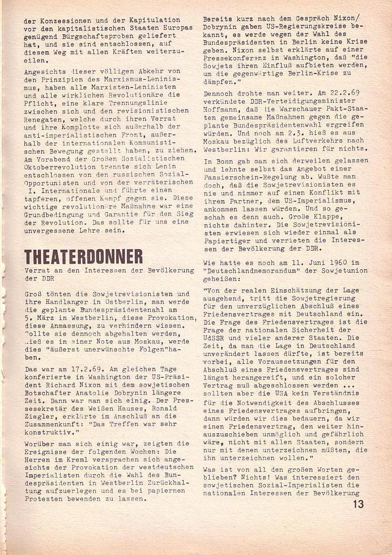 Roter Morgen, 3. Jg., März 1969, Seite 13