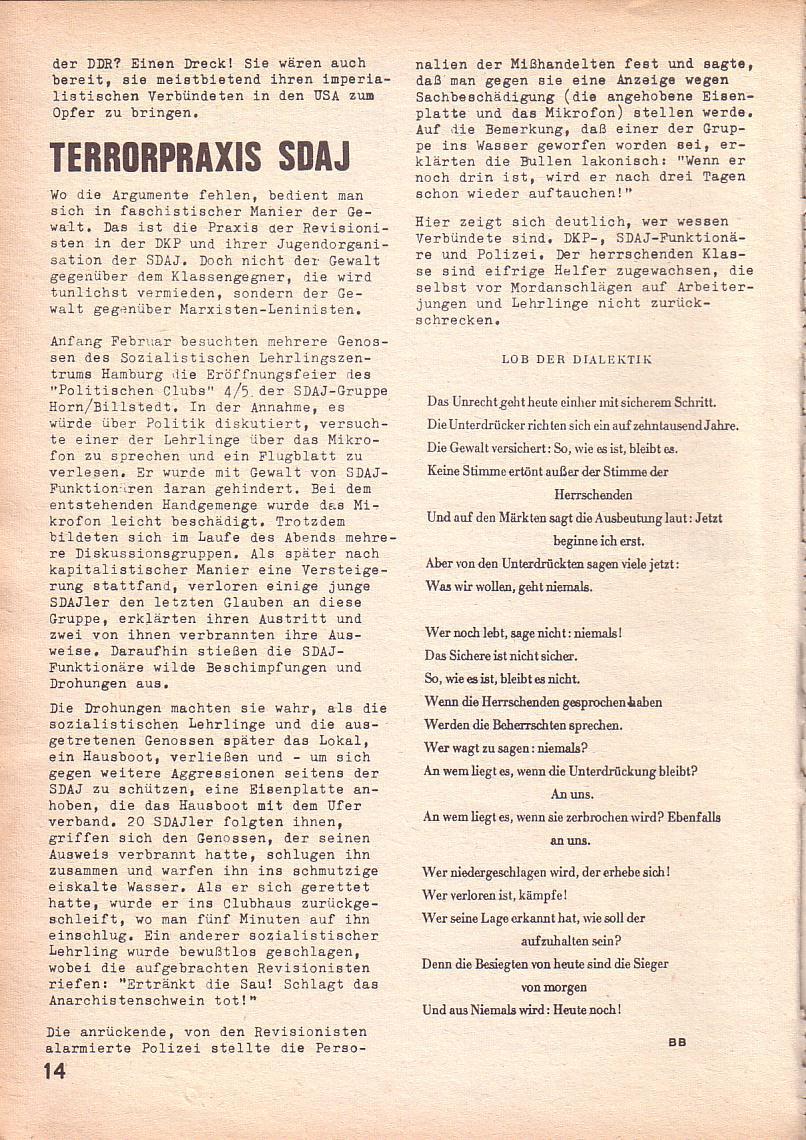 Roter Morgen, 3. Jg., März 1969, Seite 14