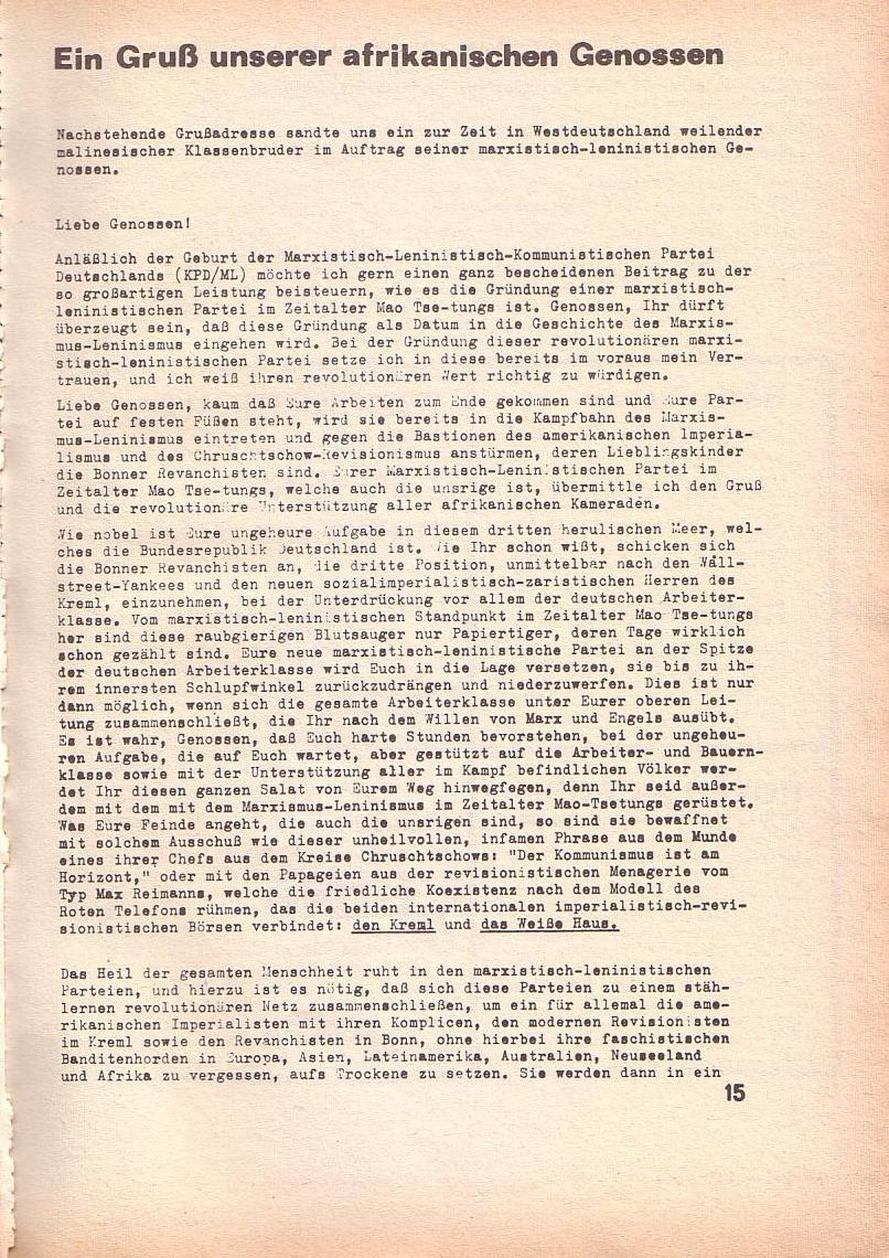 Roter Morgen, 3. Jg., März 1969, Seite 15