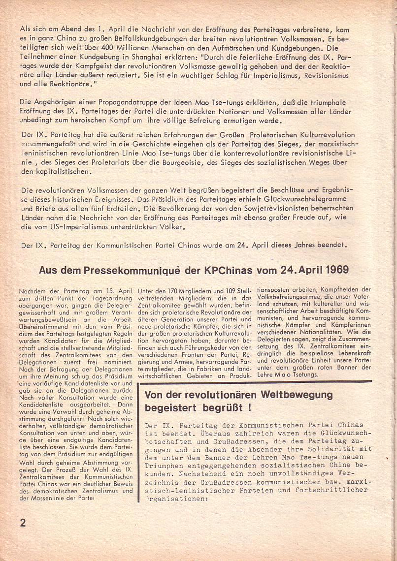 Roter Morgen, 3. Jg., April 1969, Seite 2
