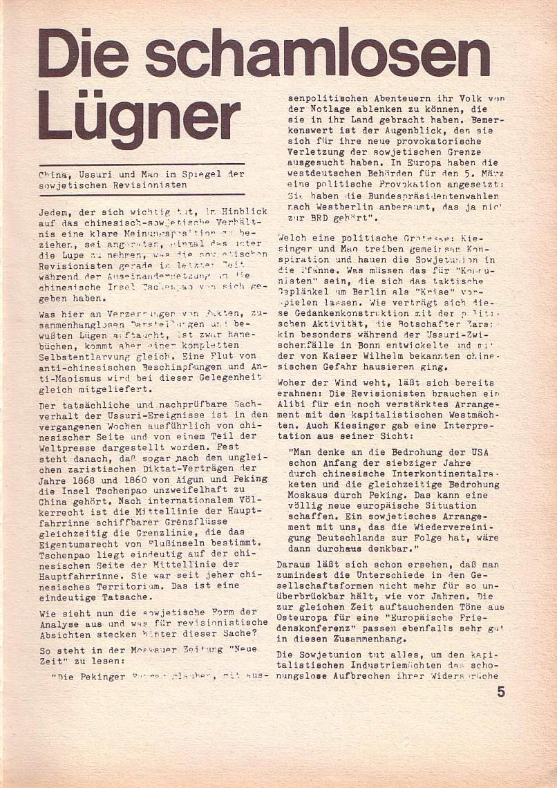 Roter Morgen, 3. Jg., April 1969, Seite 5