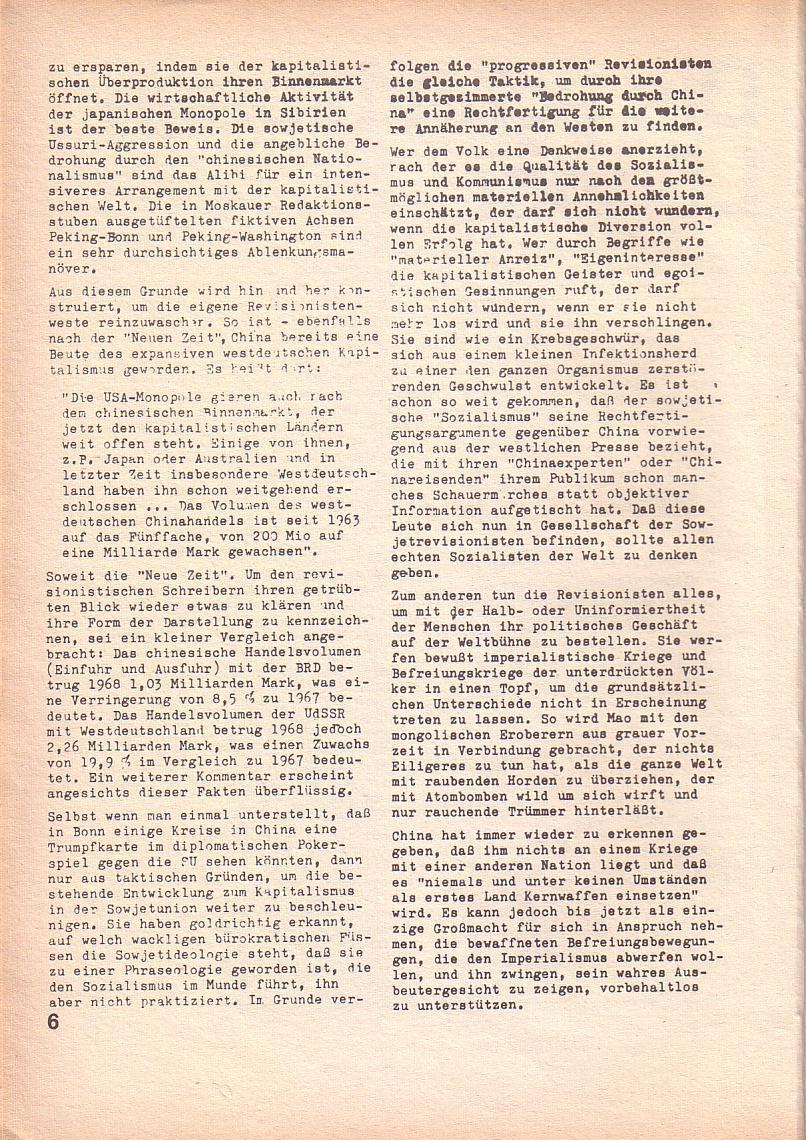 Roter Morgen, 3. Jg., April 1969, Seite 6