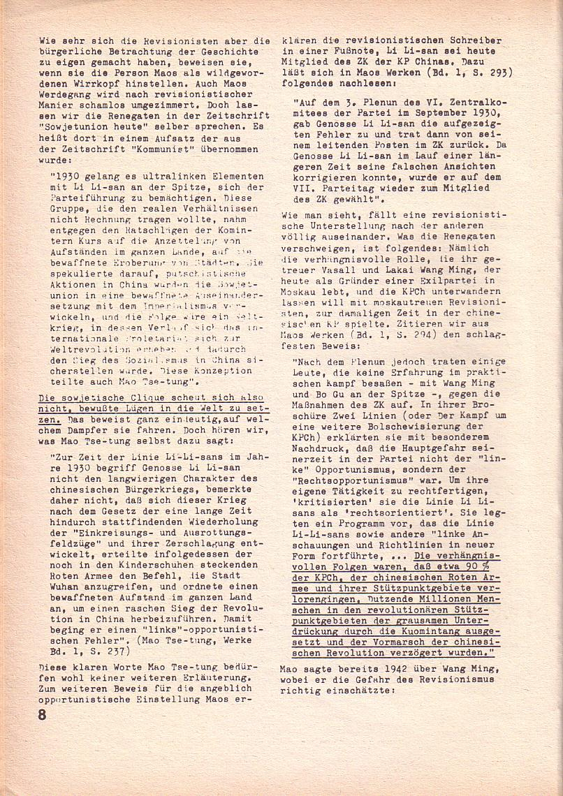 Roter Morgen, 3. Jg., April 1969, Seite 8
