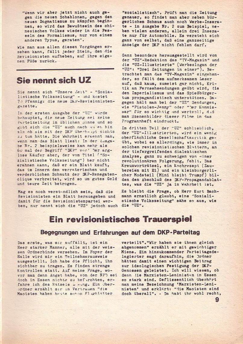 Roter Morgen, 3. Jg., April 1969, Seite 9