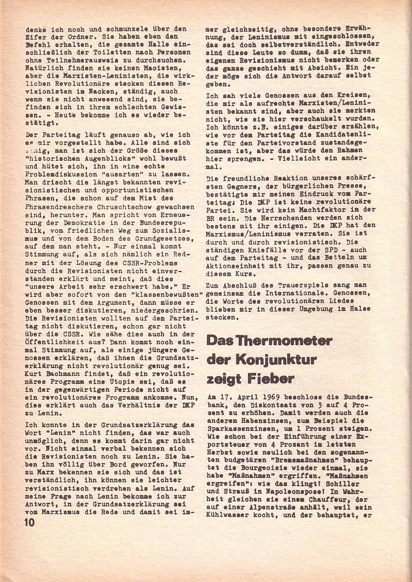 Roter Morgen, 3. Jg., April 1969, Seite 10