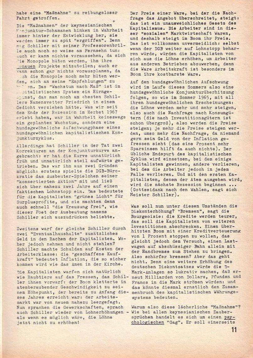 Roter Morgen, 3. Jg., April 1969, Seite 11