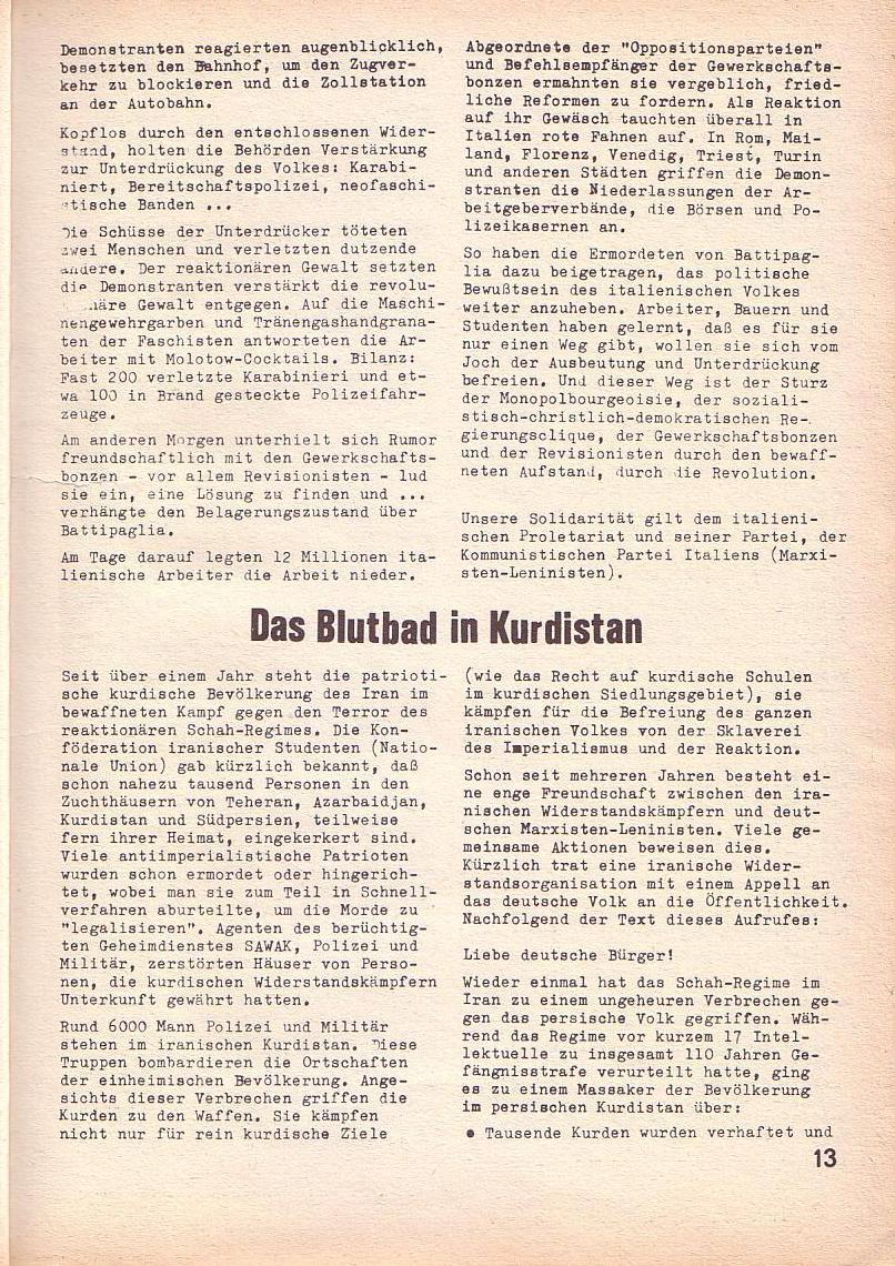 Roter Morgen, 3. Jg., April 1969, Seite 13