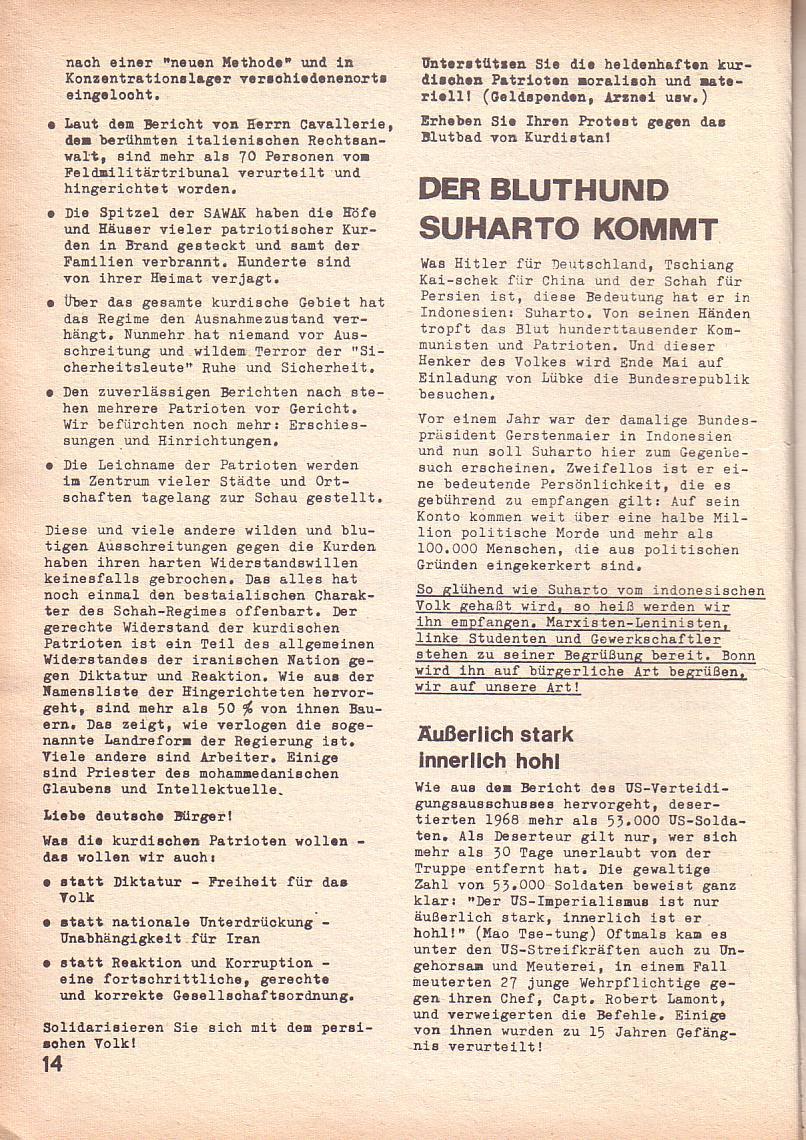 Roter Morgen, 3. Jg., April 1969, Seite 14