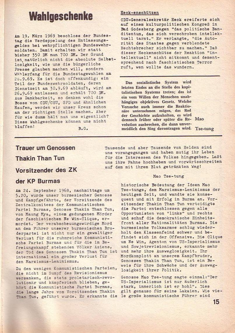 Roter Morgen, 3. Jg., April 1969, Seite 15