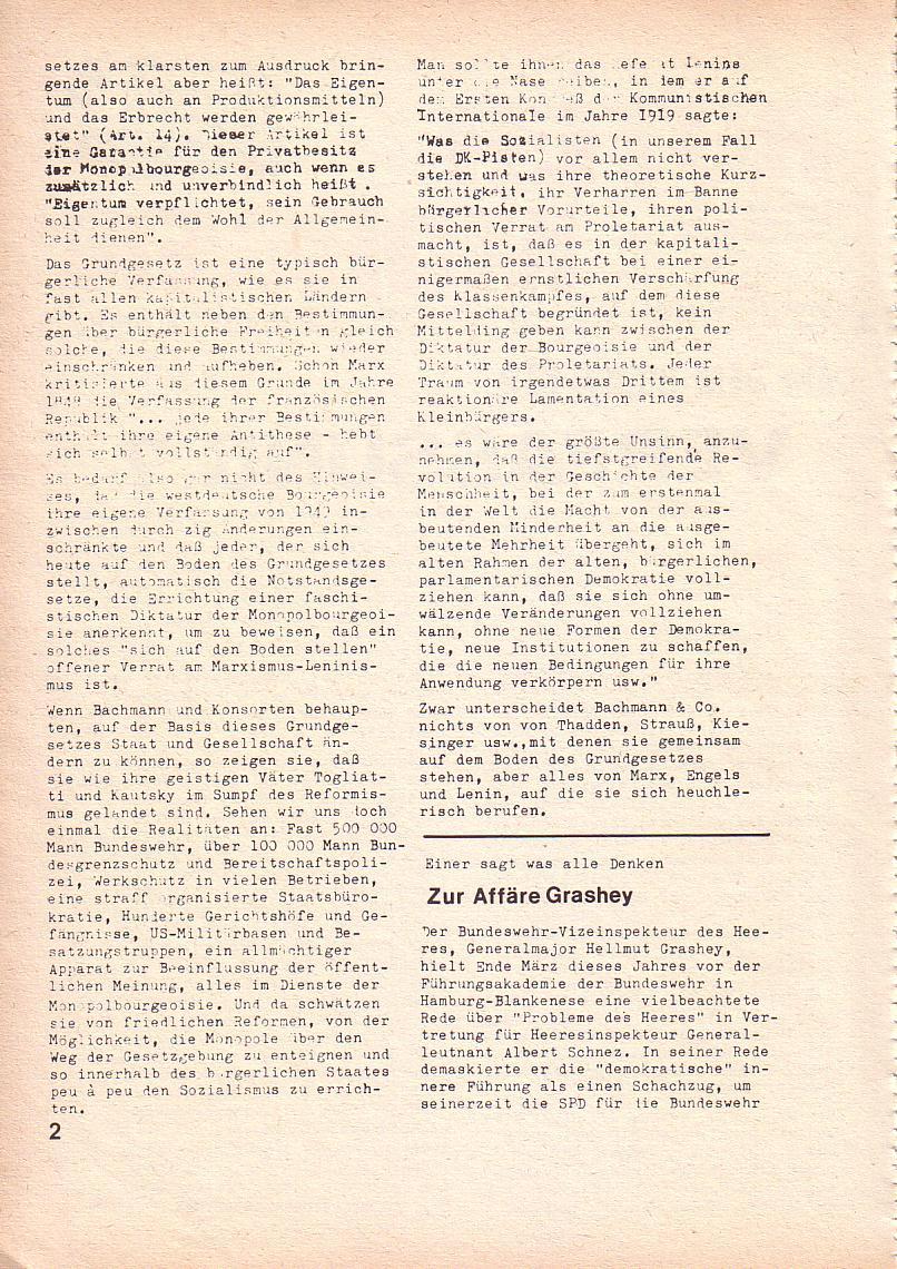 Roter Morgen, 3. Jg., Mai 1969, Seite 2