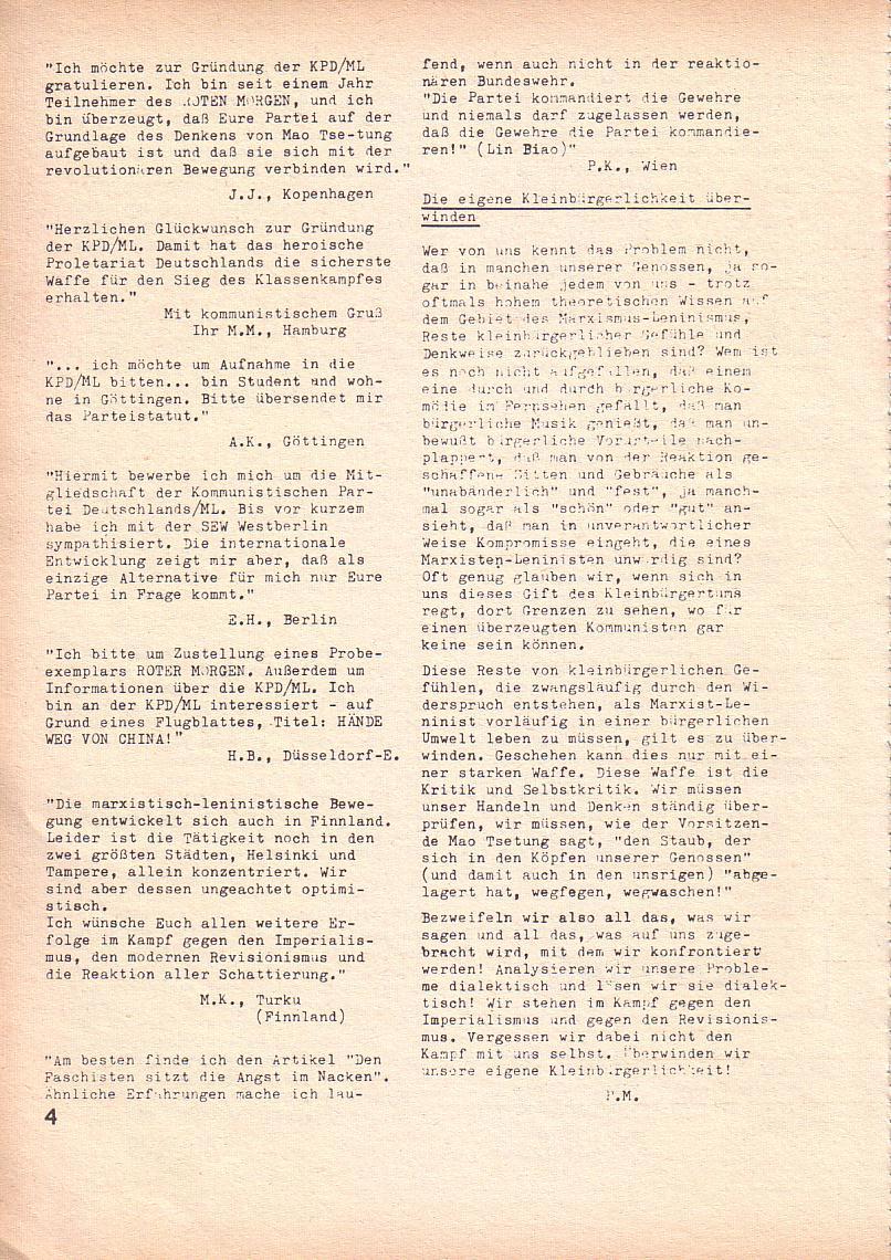 Roter Morgen, 3. Jg., Mai 1969, Seite 4