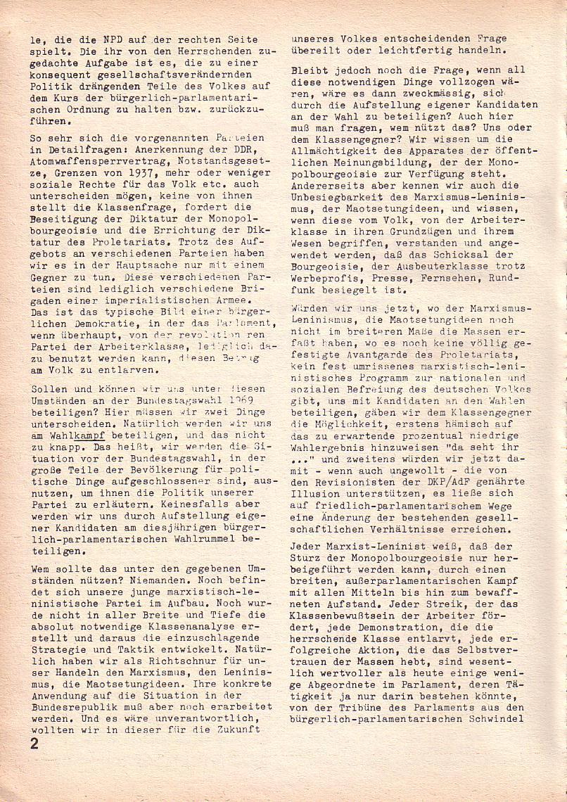 Roter Morgen, 3. Jg., Juni 1969, Seite 2