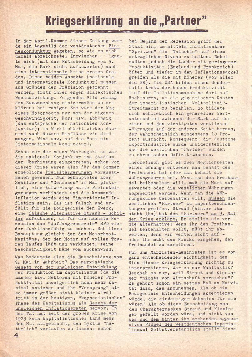 Roter Morgen, 3. Jg., Juni 1969, Seite 4