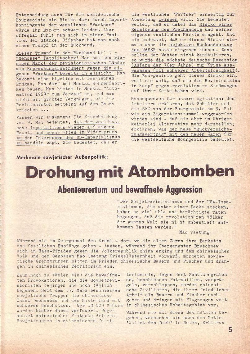 Roter Morgen, 3. Jg., Juni 1969, Seite 5