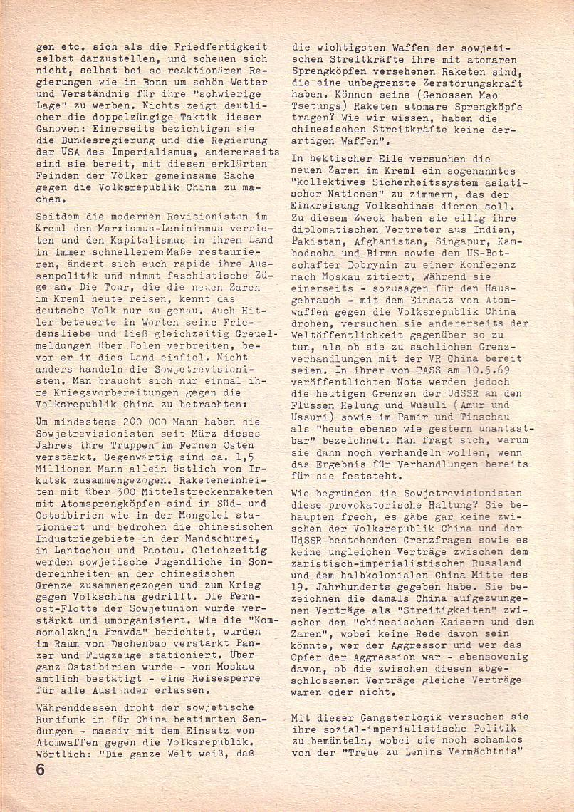 Roter Morgen, 3. Jg., Juni 1969, Seite 6