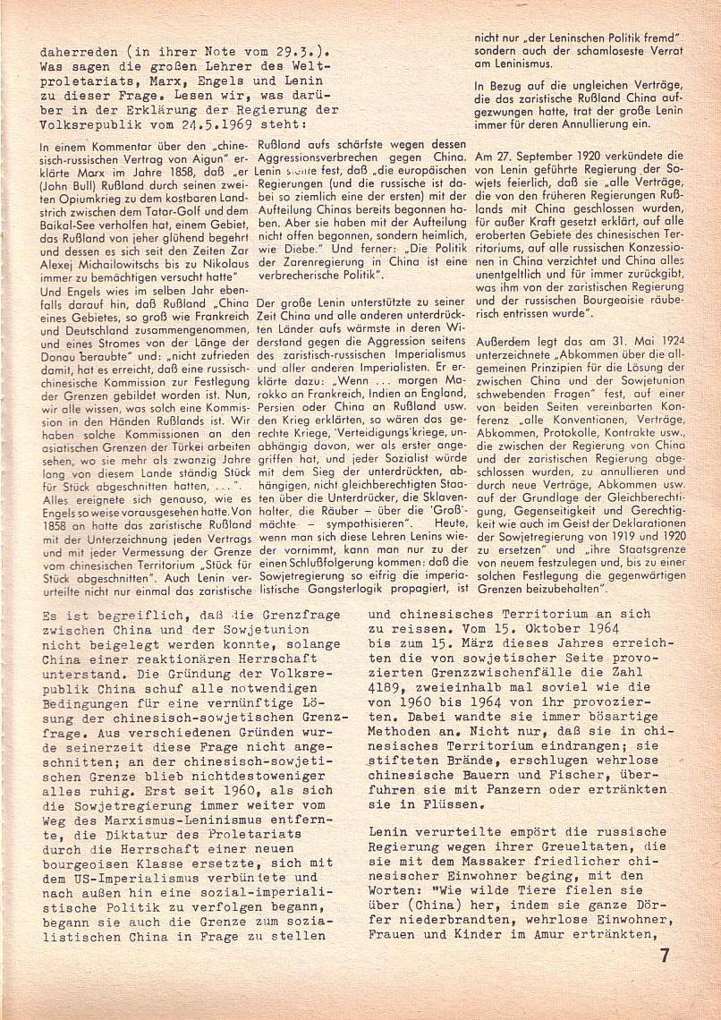 Roter Morgen, 3. Jg., Juni 1969, Seite 7