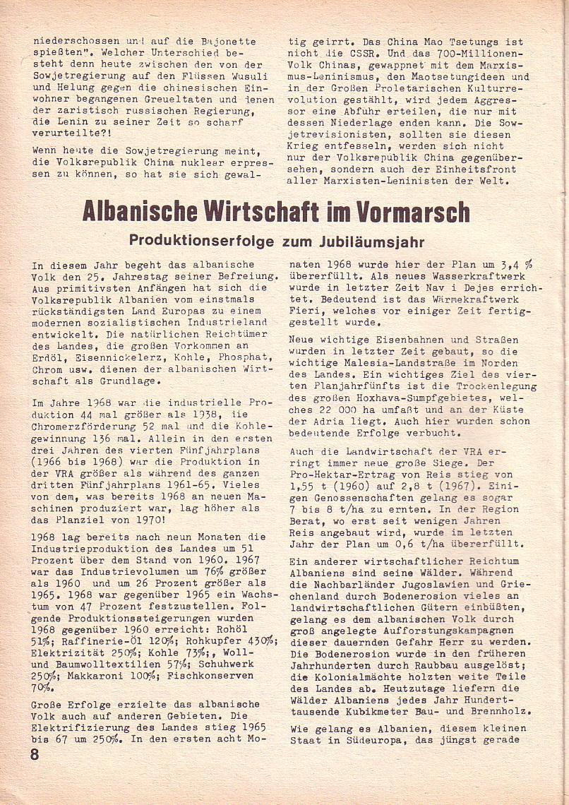 Roter Morgen, 3. Jg., Juni 1969, Seite 8