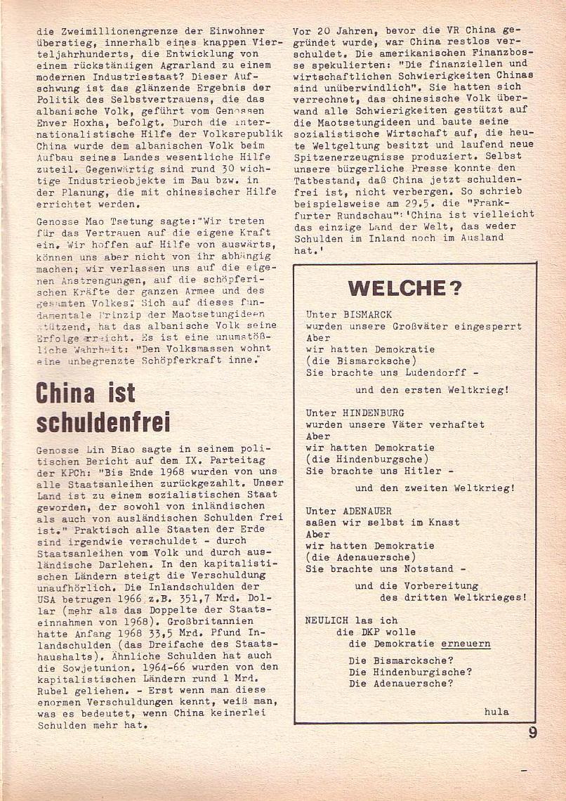 Roter Morgen, 3. Jg., Juni 1969, Seite 9