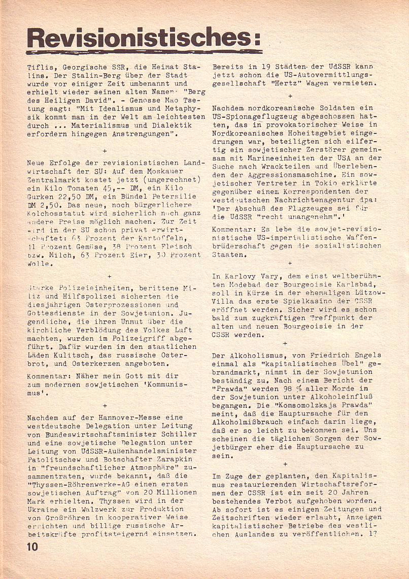 Roter Morgen, 3. Jg., Juni 1969, Seite 10